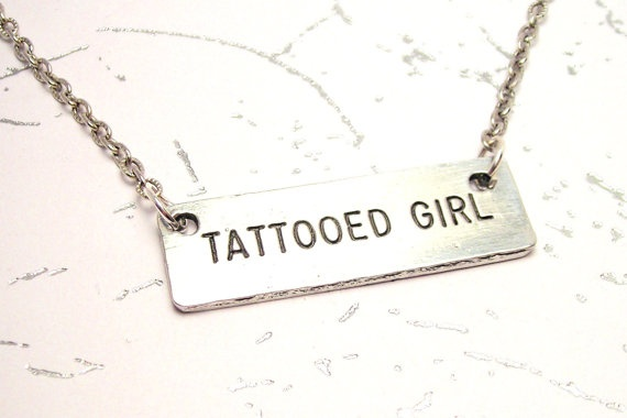 Tattooed Girl Necklace by CorsoStudio on Etsy, $16.00