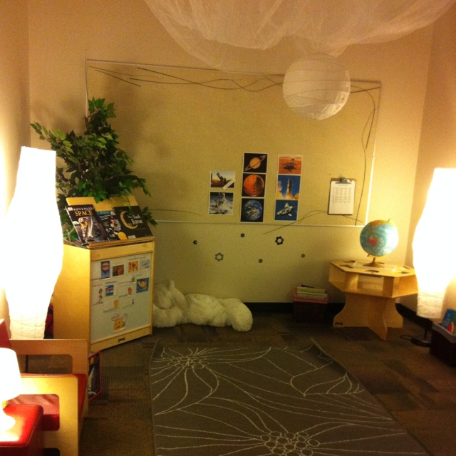Kindergarten circle time room. #Reggio
