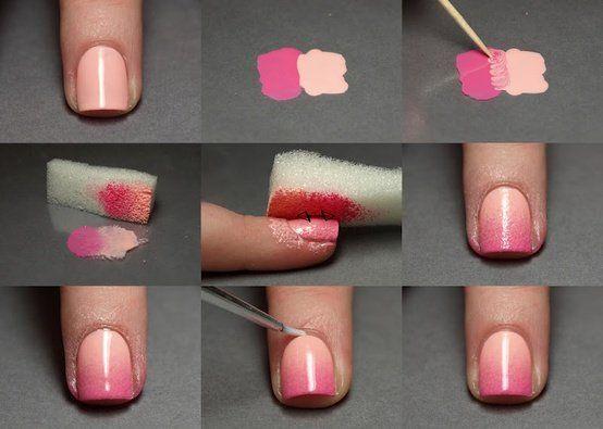 Nail Tutorials: Make Nail Arts with Sponge