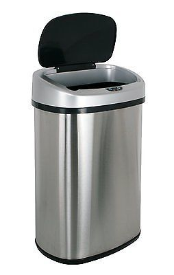 Infrared Touchless Stainless Steel Trash Can, 13.2-Gallon Brand New