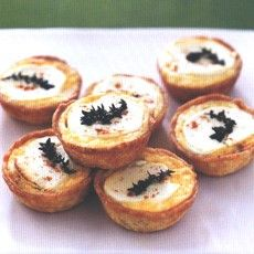 Caramelised Onion Tartlets with Goats' Cheese and Thyme. Simply delicious.