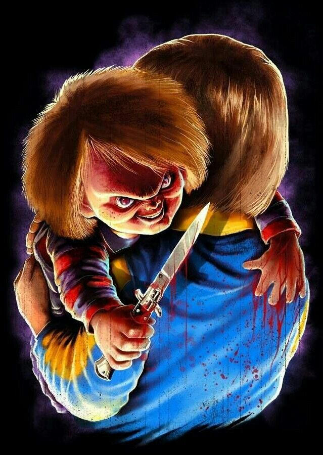 Chucky childs play horror creepy pinterest personajes de