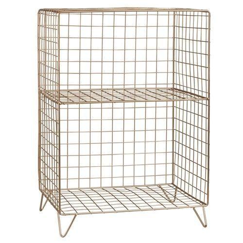 LOLA - Small Copper Cage Storage Unit
