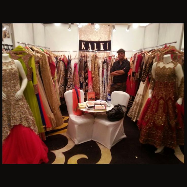 Our collection at NUMAISH festive fair, #Dubai won many hearts. You too can shop the #festive collection here: http://www.kalkifashion.com/whats-new/kalki-couture-lehengas.html
