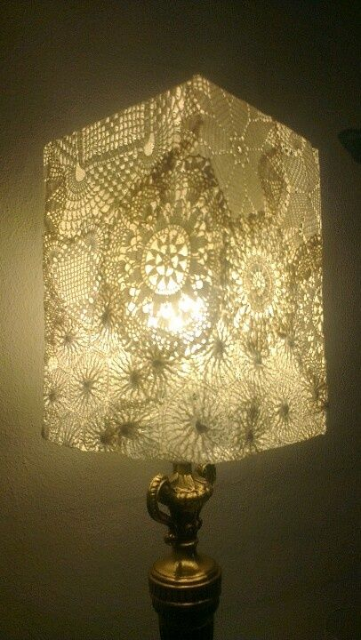 Best 25 spoon lamp crafty images on pinterest pinterest lamp shade ideas my doily lamp lamp shade ideas mozeypictures Image collections