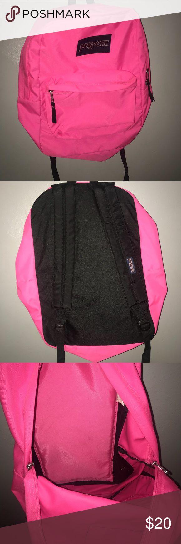 Jansport Backpack NWOT  Neon Pink Jansport Backpack Jansport Bags Backpacks
