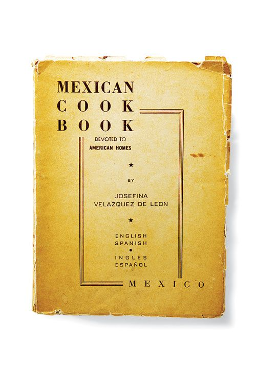 Cookbook by Josephina Velazquez de Leon, an important figure in Mexican cooking.