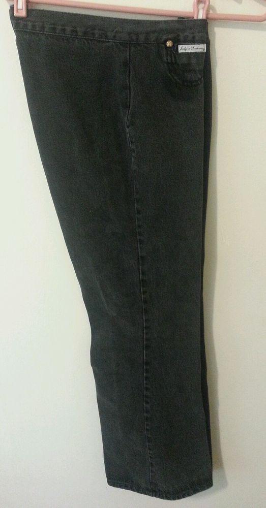Judy's Fashion Jean Women Flare Leg Dark Black Cotton 13 Juniors Mid 30 #JUDYSFASHION #Flare