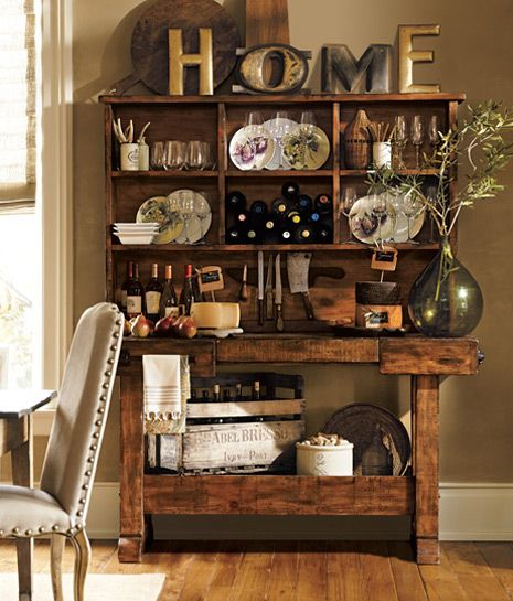 Kitchen Decoration Ideas & Kitchen Accessories Ideas potterybarn rustic decor