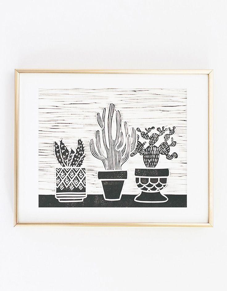 Set Forth Studio – Cacti Linocut Print, $45 // This cactus art print will look gorgeous on your wall, and makes a great gift. Buy it now in the shop!