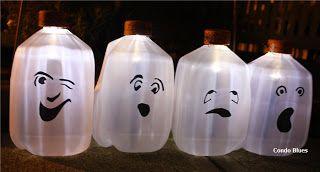 Condo Blues: Make Solar Milk Jug Ghosts for Halloween