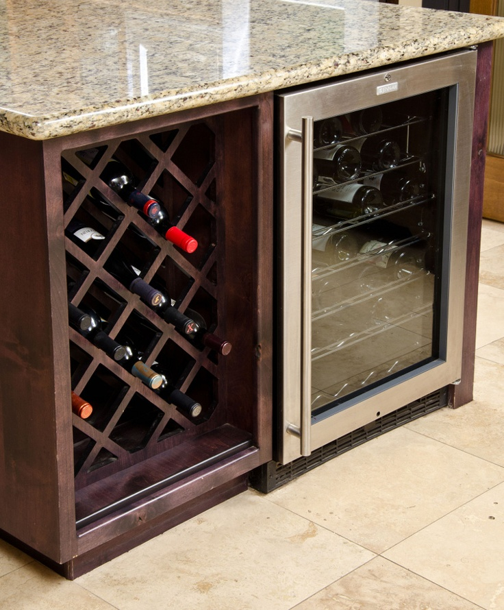 a must for the kitchen - wine cooler in the island...THIS IS SO HAPPENING!