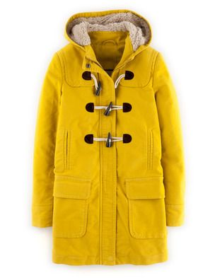 In love with this bodenclothing duffle coat moleskine for Boden yellow raincoat