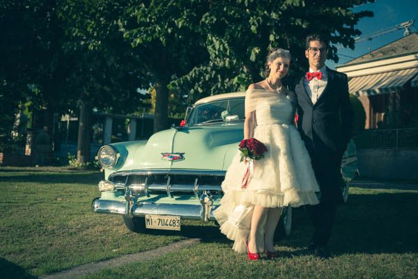 Un matrimonio a tema circo anni '50: Laura e Giampi
