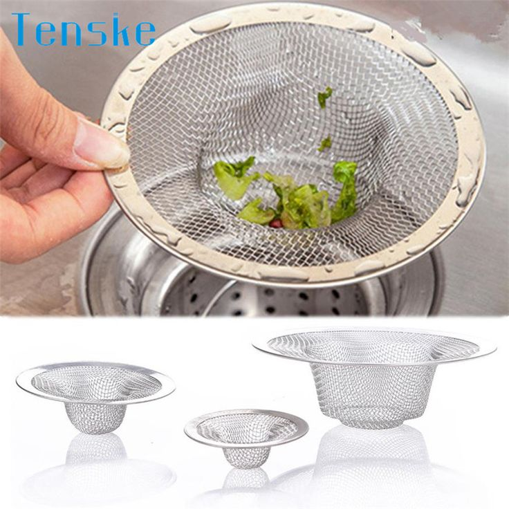 3PC/Set High Quality Kitchen Basket Stopper Stainless Steel Strainer Waste Plug Basin Home Drain Sink Strainer Drain Protector*7