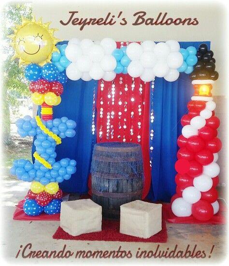 17 best images about balloon nautical decor on pinterest for Anchor decoration party
