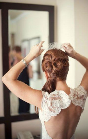 Wedding ceremony hairstyles half up half down with birdcage hair fashion 54 finest concepts