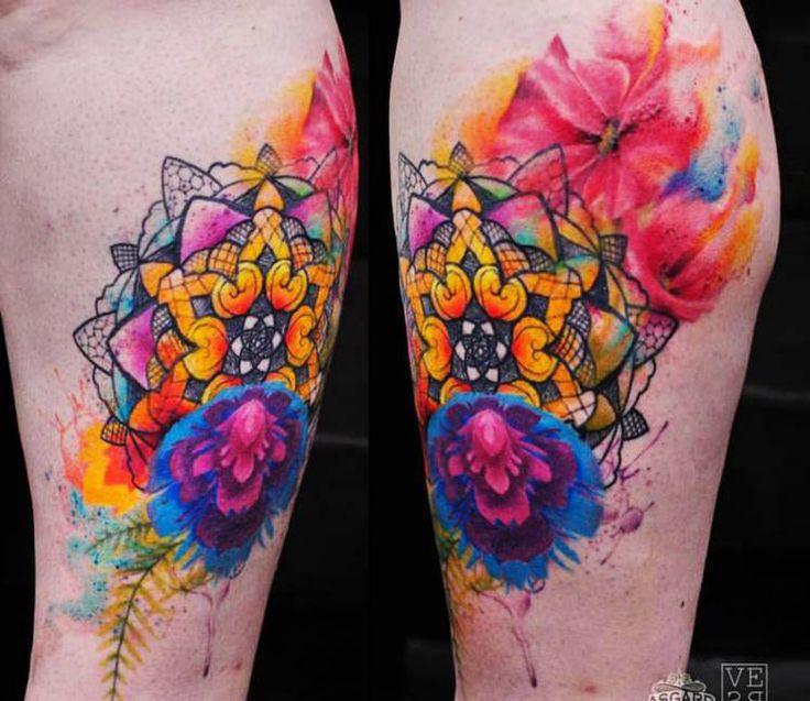 Mandala Flowers tattoo by Versus Ink