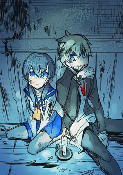 "Game: Corpse Party (NOT FREE) 良あゆ落書き by さば "" *Do not remove the source, if you do, Sachiko will cut out your tongue! "" Please support this artist for this wonderful work, go bookmark, rate and praise..."