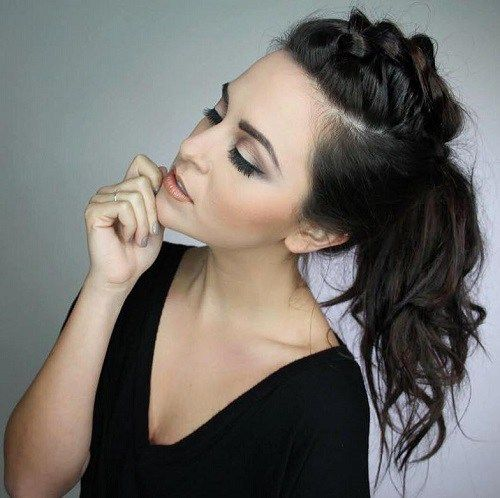 braid into ponytail hairstyle