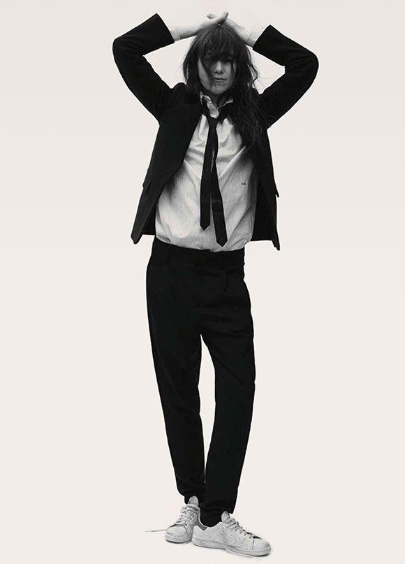 Charlotte Gainsbourg (Vogue Germany, August 2014). Photographer: Stefan Heinrichs. Styling: Nicola Knels.