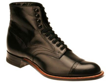 Well heeled gents might slip into these Dress Boots to pay any number of professional or social calls in town. A decidedly spiffed up and sophisticated alternative to everyday work boots.