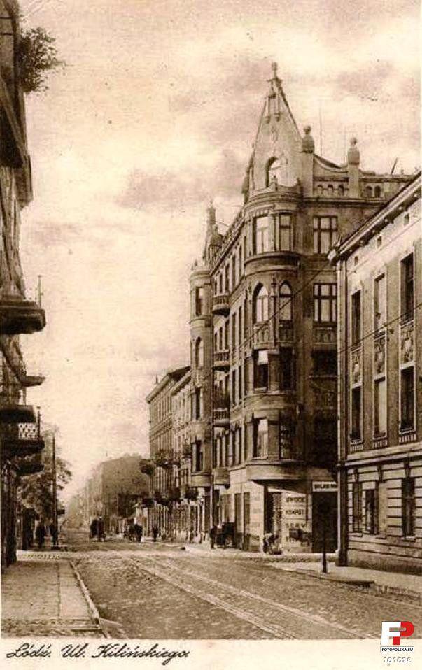 ul. Kilińskiego Jana (Widzewska, Buschlinie), Łódź - 1929 rok, stare zdjęcia