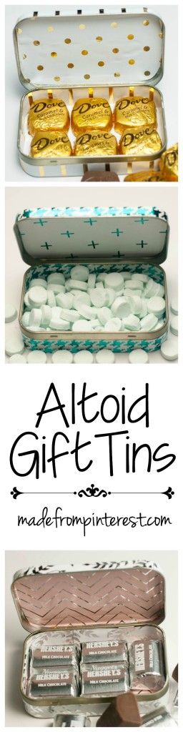 Super easy to make Altoid Gift Tins. Repurpose those tins and make them pretty with the Heidi Swapp Minc Foil Applicator!
