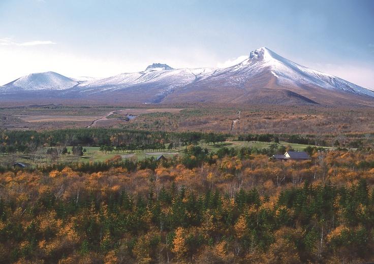紅葉のグラデーション。秋の駒ヶ岳