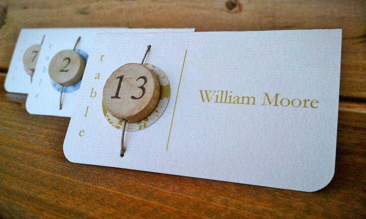 Wedding Escort Cards, Rustic Escort Card, Beaded Escort Card. from company 42 via Etsy.