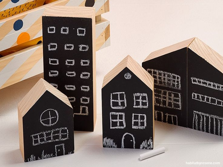 Making these blackboard cities is as easy as 1-2-3! Click through for instructions.