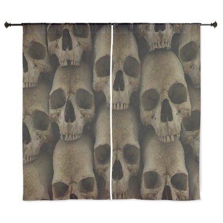 "Wall of Skulls 60"" Curtains"
