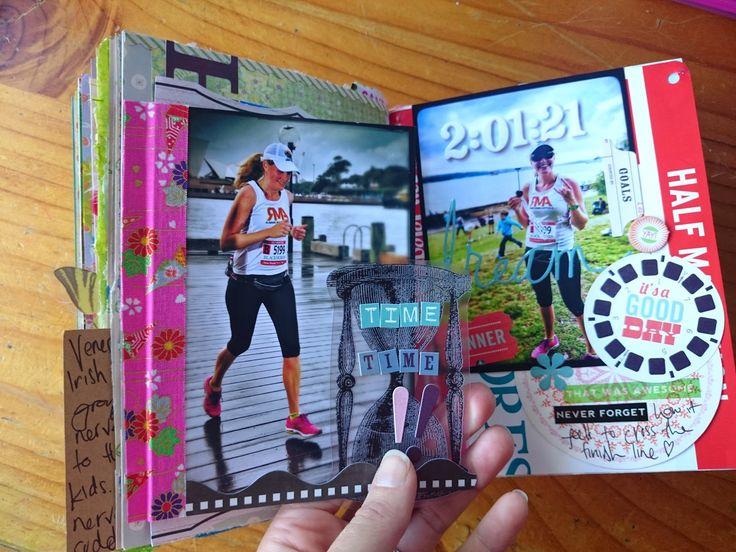 Art journalling: my first half marathon | This Whole Soul