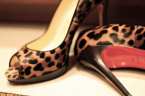 Leopard Red Bottom Shoes
