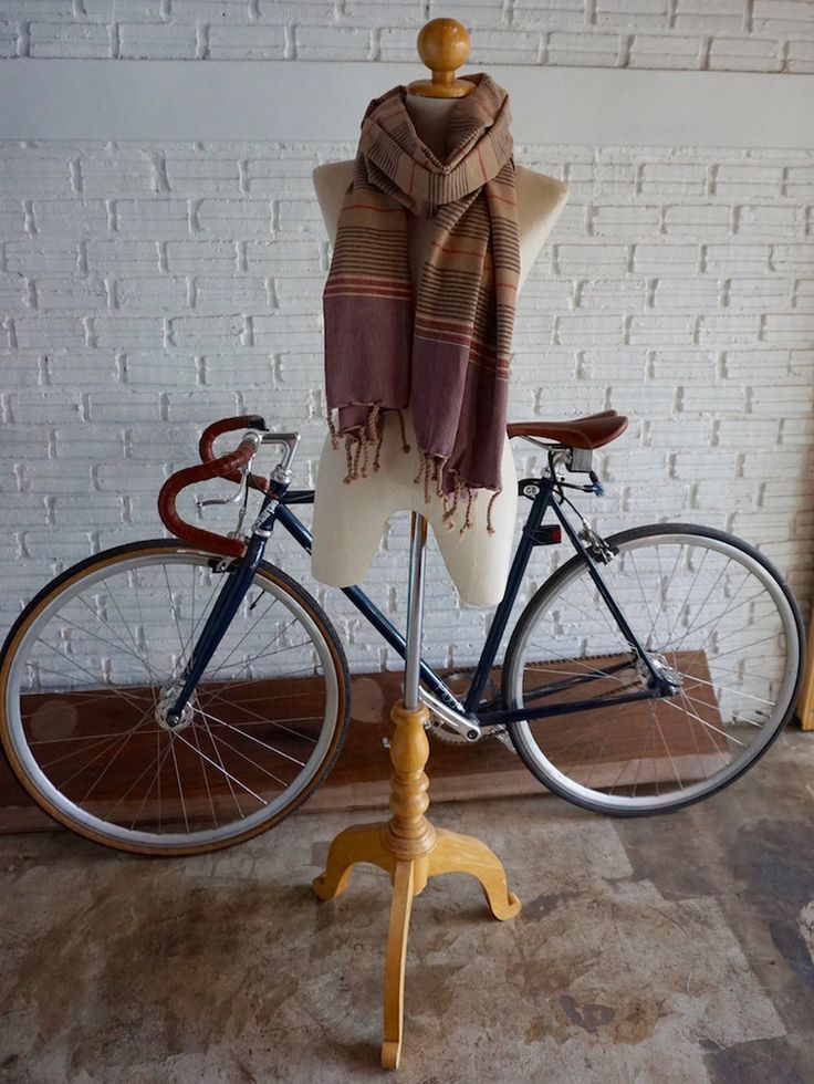 Hand woven striped scarf
