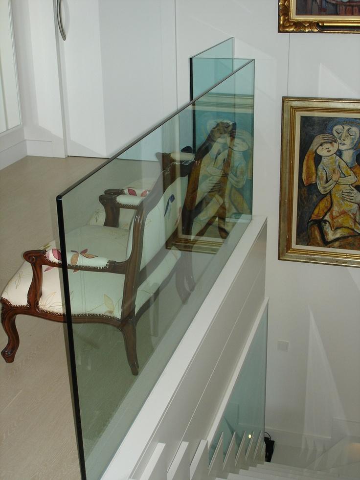 17 best images about barandillas on pinterest antigua - Escaleras de vidrio ...