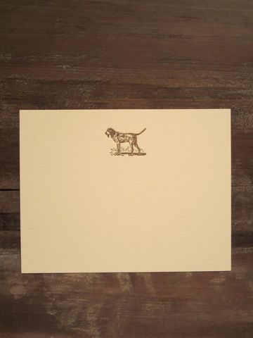 Style Icon Jennifer Boles of The Peak of Chic's Favorite Classics: Dog Letterpress Correspondence Cards