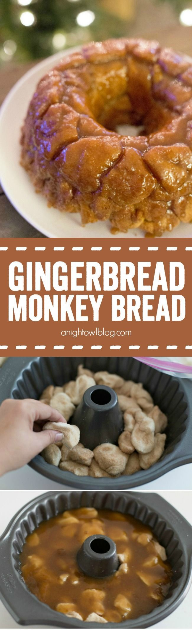 This Gingerbread Spice Monkey Bread is an easy and delicious breakfast, perfect for the holidays!