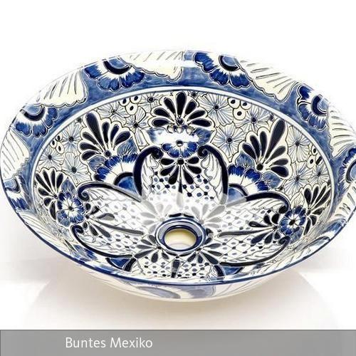 Wir präsentieren Ihnen das wundervolle Waschbecken aus Mexico. Dieses einmalige Einbauwaschbecken wurde aus Keramik in der traditionellen Talavera-Technologie…