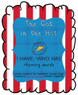 I HAVE WHO HAS Rhyming Card GameLiteracy, Marching, Seuss Stuff, Seuss Crafts, Dr. Who, Rhymes Cards, Cards Games, Dr. Seuss, Seuss Classroom