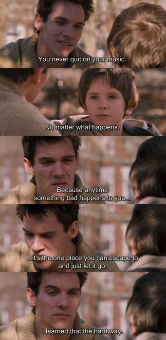 Freddie Highmore (Evan Taylor - 'August Rush') & Jonathan Rhys Meyers (Louis Connelly) - August Rush (2007)