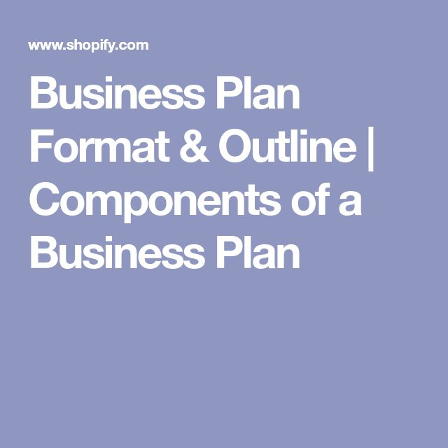 Business Plan Format & Outline | Components of a Business Plan