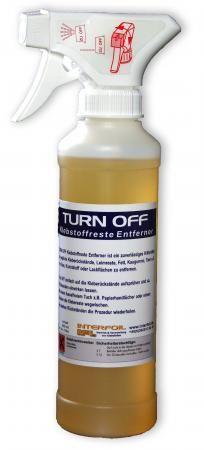 Aufkleberreste entfernen, TURN OFF  250 ml