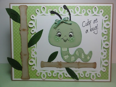 The Cricut Bug: Create A Critter Cricut Card - I love this caterpillar. I need to make this!