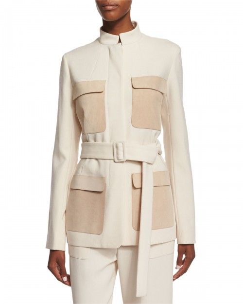 the+Row+Slim+Fit+Jacket+W+Contrasting+Pockets+Ivory+Cream+8+|+Coat,+Jacket+and+Clothing