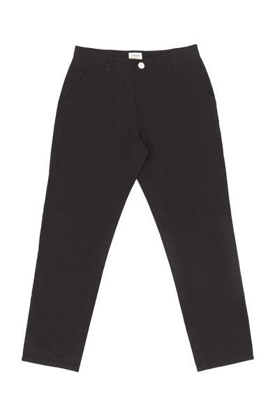 RCM CLOTHING / GARDENER CHINOS | BLACK  Sustainable Hemp Apparel, 55% hemp 45% organic cotton twill http://www.rcm-clothing.com/