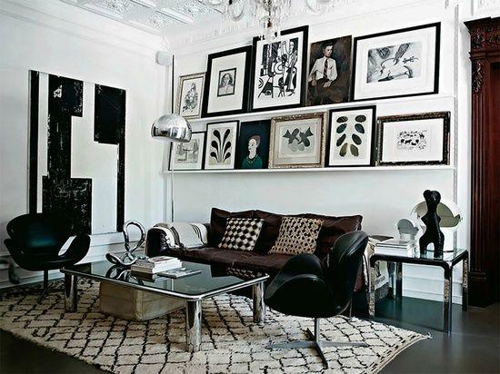 Apartamento Maravilhoso com Decor em Preto e Branco. É apartamento clássico cheio de detalhes elegantes e cheios de estilo em Palma, Malorca. A estilista dinamarquesa Malene Birger, não vou dizer ...