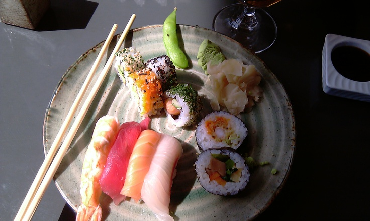 Sushi from Sticks'n Sushi at the Tivoli Hotel Copenhagen