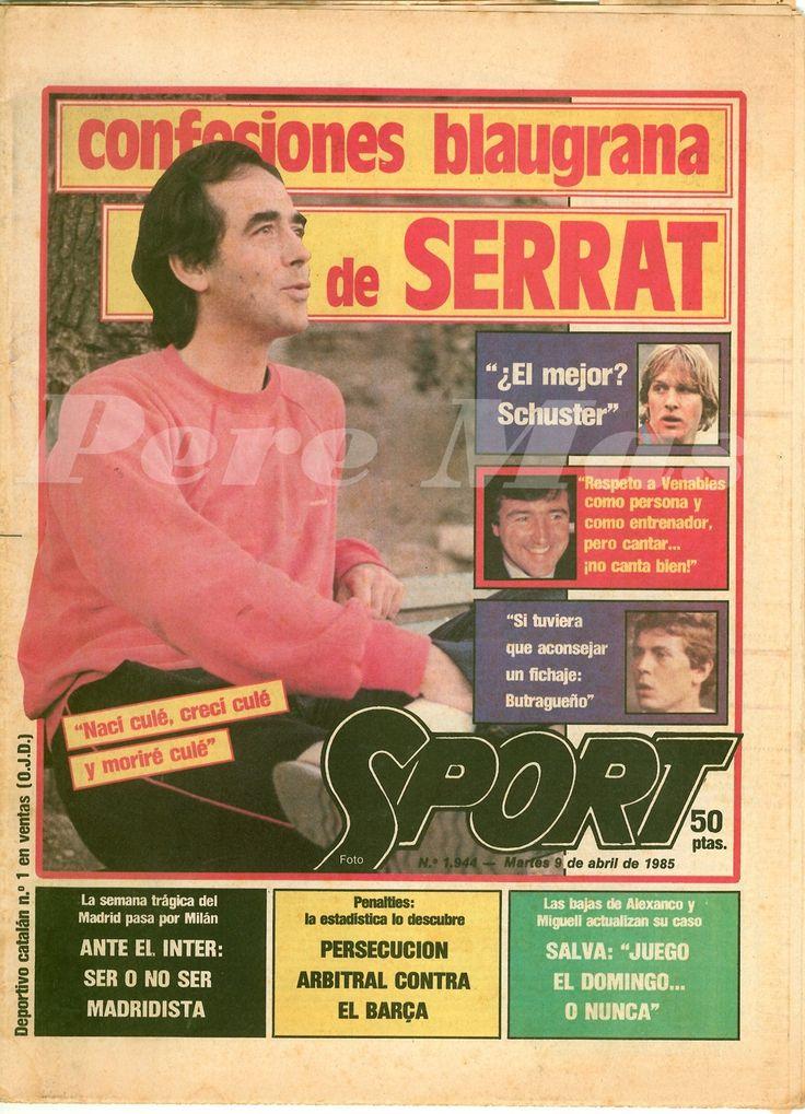 1985 Serrat portada al diari Sport.