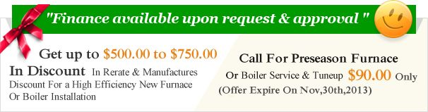 Discount and Offer for Boiler & Furnace Installation & Repair http://www.rbm-hvac.com/
